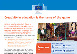 Creativity in education is the name of the game