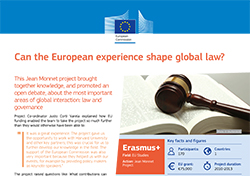 Can the European experience shape global law?