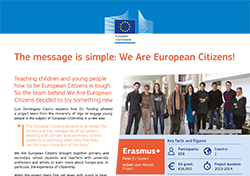The message is simple: We Are European Citizens!