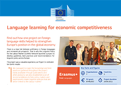 Language learning for economic competitiveness