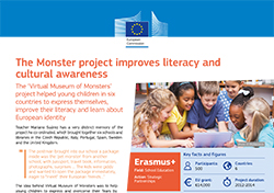 The Monster project improves literacy and cultural awareness